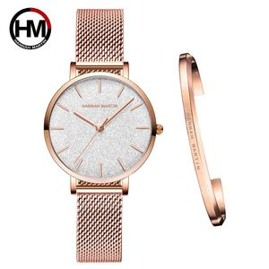Image 1 - 送料無料 Japanischen Bewegung モード Farbe デザイン超薄型メッシュバンド防水腕章 Frauen Armbanduhr Luxus ダーメン腕時計