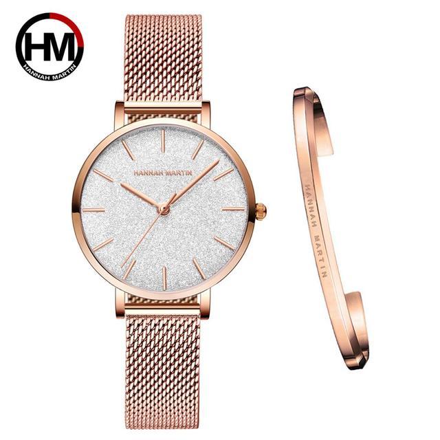 送料無料 Japanischen Bewegung モード Farbe デザイン超薄型メッシュバンド防水腕章 Frauen Armbanduhr Luxus ダーメン腕時計