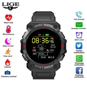 LIGE 2021 New Sport Smart Watch Men Women Heart Rate Blood Pressure Fitness Tracker Low-power Sports Bracelet For Men Women+Box 1