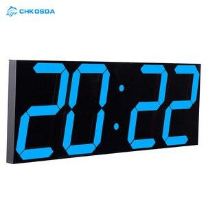 LED cyfrowa ściana zegar obudzić światło duży zegar ścienny elektroniczny stoper stacja pogodowa nowy rok zegarek dekoracyjny Mural