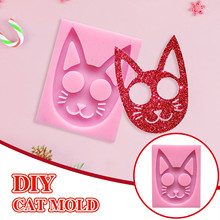 Keychain Stencil-Latex Cat Rubber-Molds Mold-Fondant-Resin-Crafts-Clay-Candy-Jewelry-Gumpaste-Mold