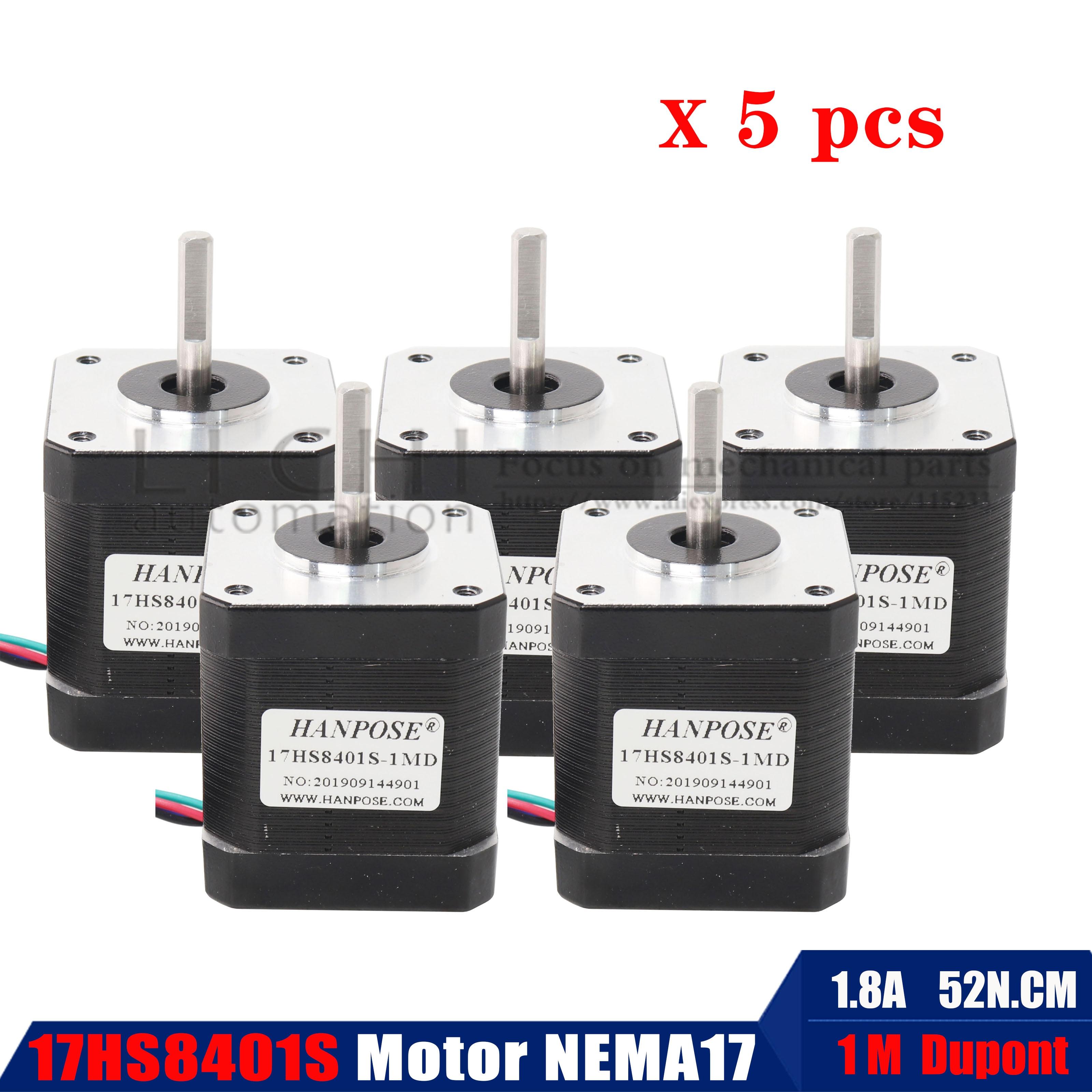 4 Lead Nema17 Stepper Motor 42 Motor Nema 17 Motor 42BYGH 48MM 1.8A (17HS8401) Motor For CNC XYZ 3d Printer Motor