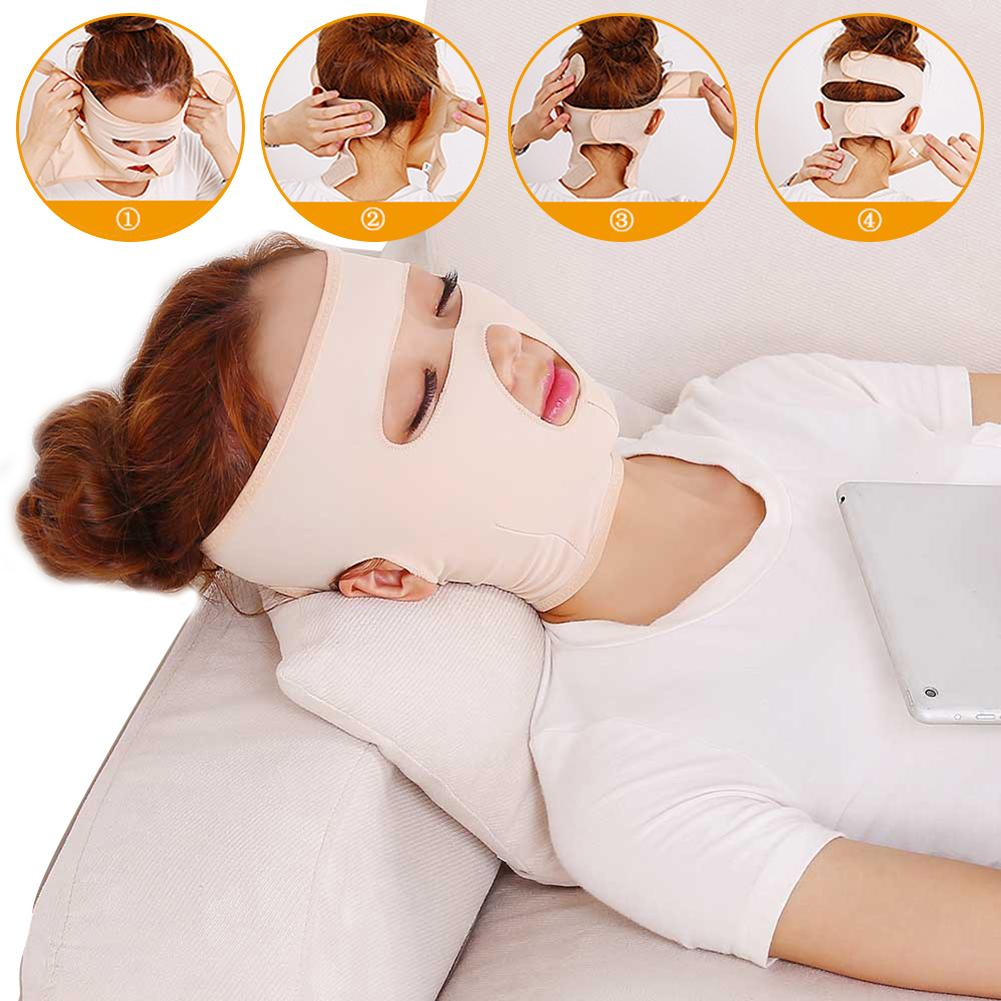 Face Lift Mask Facial Slimming Cheek Mask Skin Care Belt Shape And Lift Reduce Double Chin Face Thining Band Face Shaper