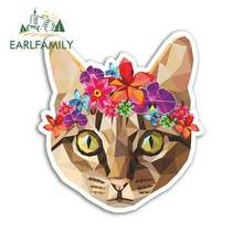 EARLFAMILY 13cm x Pretty Cat Anime Funny Car Stickers Bumper Trunk Truck Graphics Vinyl JDM Sunscreen Accessories