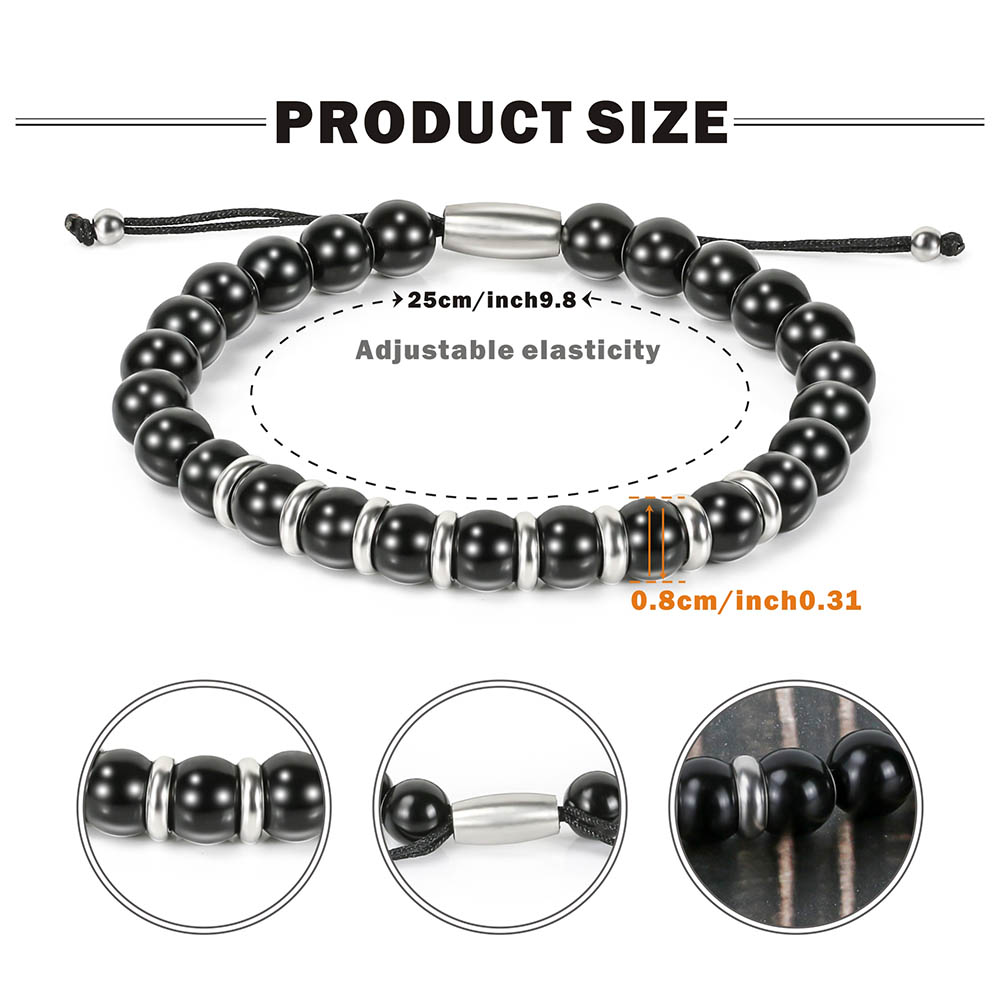 BOFEE Natural Stone Beaded Bracelet Charms Adjust Stretch Yoga Magnetic Trendy Custom Hand Chain Fashion Jewelry Gift Women Men in Strand Bracelets from Jewelry Accessories