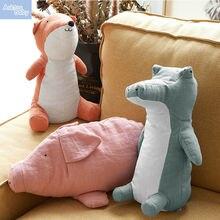 Кукла мягкая плюшевая 36 см животные лиса свинка детская игрушка