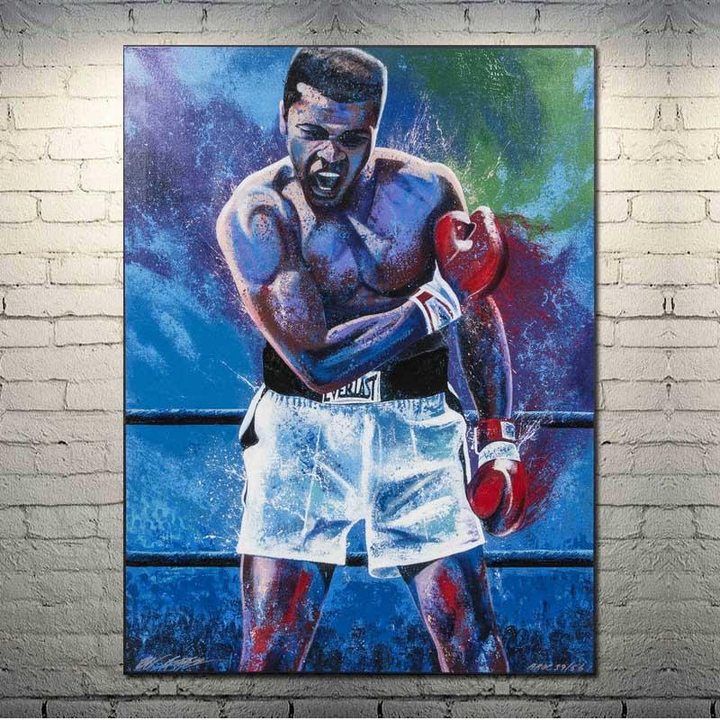 Мухамед Али, художественный шелк, холст, постер 13x18 24x32 дюйма, настенные картины-003