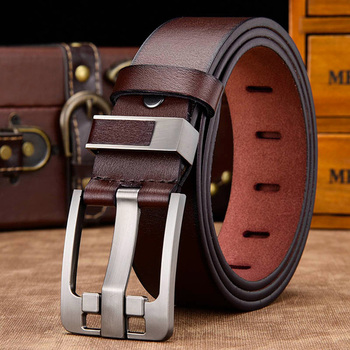 [DWTS]men belt male high quality leather belt men male genuine leather strap luxury pin buckle fancy vintage jeans free shipping 7