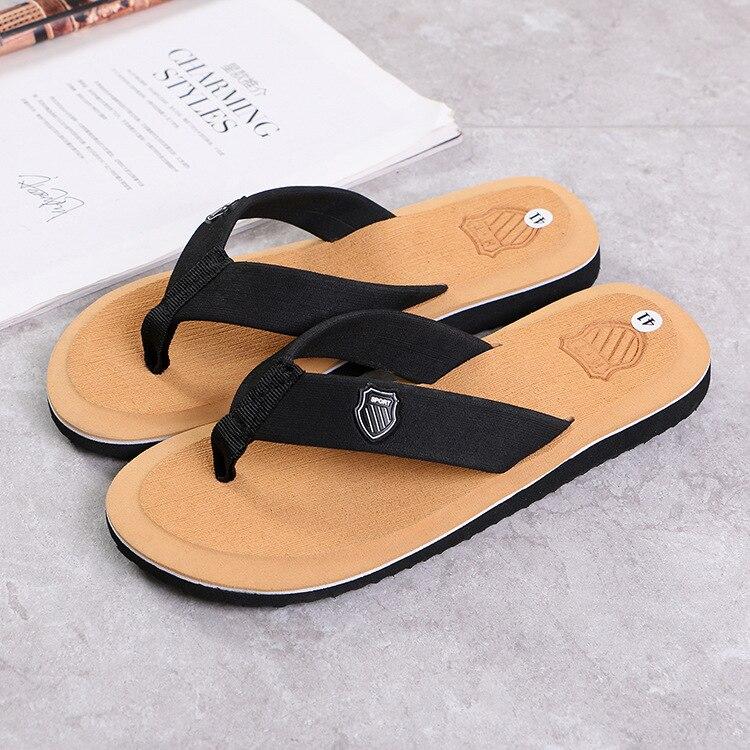Men Summer Flip Flops Beach Sandals Anti-slip Casual Flat Shoes High Quality Slippers Zapatos Chanclas De Hombre Chaussure Homme 6