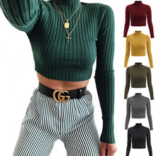 Women Knitted Half Turtleneck Sweater Casual Soft Solid Slim Autumn Winter Clothes Fashion Elasticity Pullovers Sueter Mujer