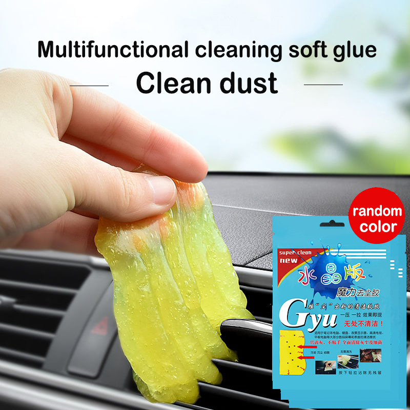 Car Cleaner Glue Panel Air Vent Outlet Dashboard Laptop Keyboard Cleaning Tool Mud Remover Car Gap Dust Dirt Cleaner Soft Gel