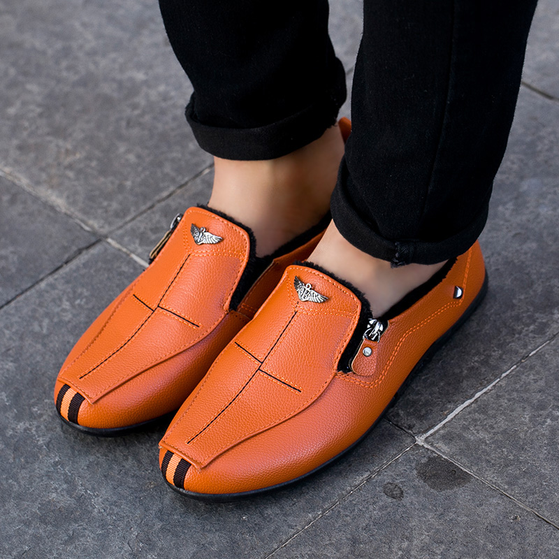 Retro Leather Shoes Men Summer Social Men'S Casual Shoes Male Breathable Slip On Driving Shoes Moccasins Sapatos Homem