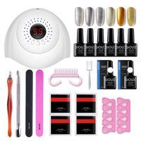 36pcs Beginner Nail Gel Polish Set 6pcs 6 Colors Nail Gels with 36W UV/LED Dryer Lamp Nails Art Kit Tools