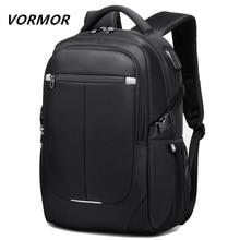 VORMOR 2020 New Fashion Men Backpack Multifunctional Waterproof 15.6 inch Laptop Bag Man USB Charging School Travel Bag