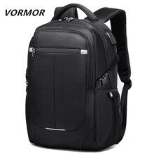 VORMOR 2020 yeni moda erkekler sırt çantası çok fonksiyonlu su geçirmez 15.6 inç Laptop çantası adam USB şarj okul seyahat çantası