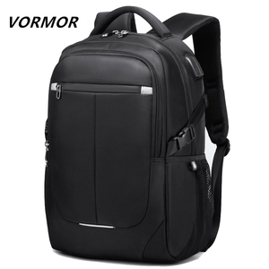 Image 1 - VORMOR 2020 yeni moda erkekler sırt çantası çok fonksiyonlu su geçirmez 15.6 inç Laptop çantası adam USB şarj okul seyahat çantası
