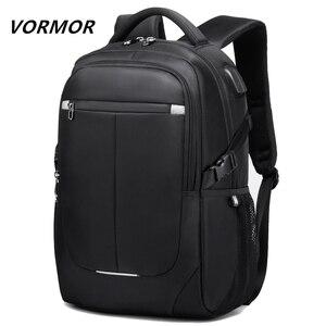 Image 1 - Мужской многофункциональный рюкзак VORMOR, модная водонепроницаемая сумка для ноутбука 15,6 дюйма с usb зарядкой, школьная дорожная сумка, 2020