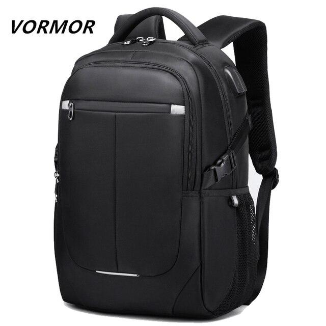 Мужской многофункциональный рюкзак VORMOR, модная водонепроницаемая сумка для ноутбука 15,6 дюйма с usb зарядкой, школьная дорожная сумка, 2020
