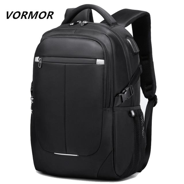 Vormor 2020 Mới Thời Trang Nam Ba Lô Đa Năng Chống Nước 15.6 Inch Túi Người Sạc USB Trường Du Lịch