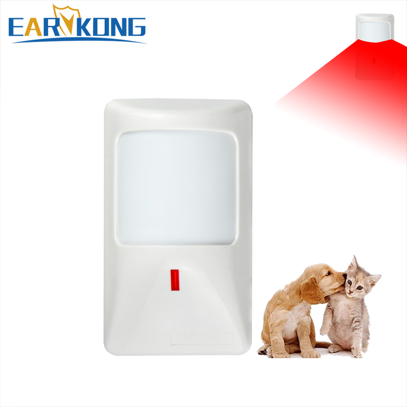 Wired PIR Infrared Motion Detector, PET Immune Infrared Detector,  For Home Burglar GSM Alarm System,