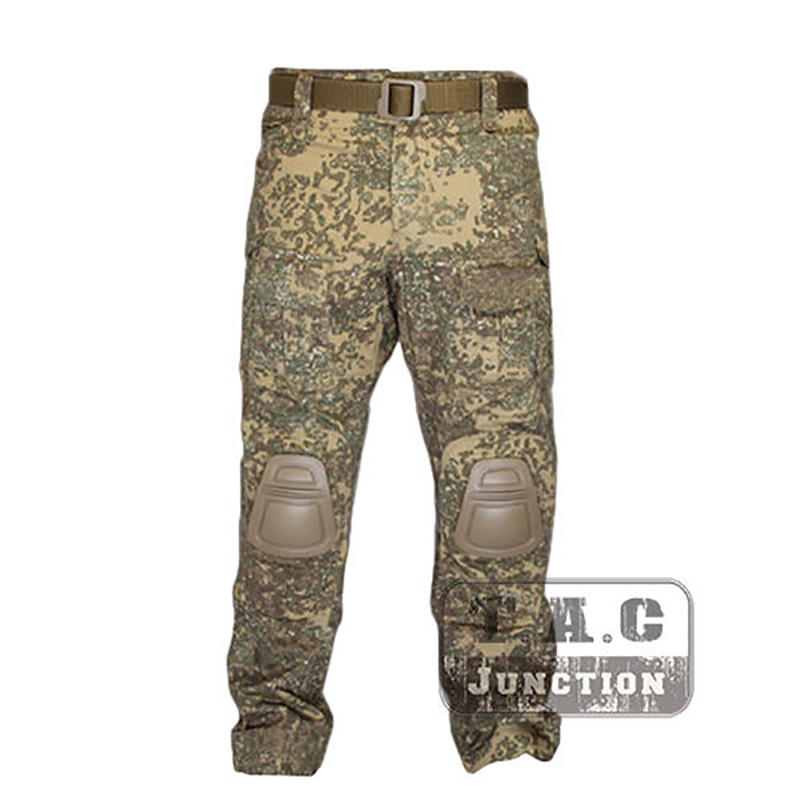 Tactical Emerson BDU <font><b>G3</b></font> <font><b>Combat</b></font> <font><b>Pants</b></font> Emersongear CP Style Battlefield Trousers Assault Uniform w/ Knee Pads For Shooting Badland image