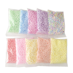 3Pack Colorful Snow Mud Particles Accessories Slime Ball Small Foam Beads For Foam Filler For DIY Craft Supplies Toy for childre