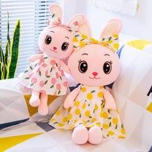 Новый стиль платье кролик мягкая плюшевая игрушка лимон животное