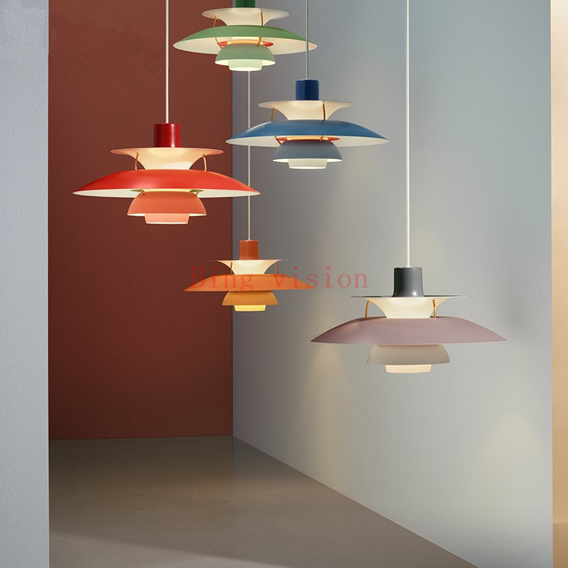 Hoge kwaliteit E27 Hanglamp Kleurrijke Paraplu Led Opschorten Lamp Eetkamer Led Hanglamp Led Lamparas Verlichtingsarmaturen - 4