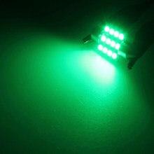 Luzes da lâmpada da placa de licença t10 pacote interior verde automático 12v 13x caixa luva