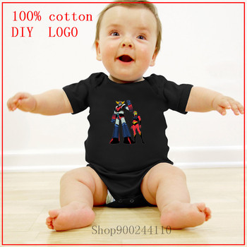 Summer Toddler Bodysuits baby Grendizer Goldrake ufo robot Printed new born baby boy clothes 3 to 6 months cotton Body Suit Baby image