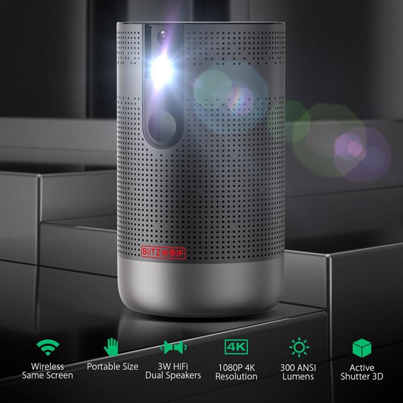 Blitzwolf BW-VP4 1920x1080 completo hd projetor android 7.1 (2g + 16g) 5g wifi dlp proyector suporte 4k 3d zoom jogo de vídeo beamer-1