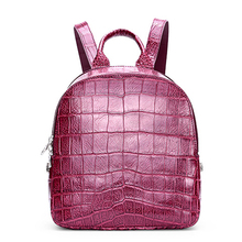 gete mported genuine crocodile skin backpacks for womens leather gulf belly personality handbag
