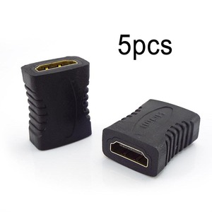 Image 1 - 5pcs Female To Female Joiner HDMI compatible Extender Connector Coupler Adapter Extender For Laptop TV Television 1080P 4K*2K 3D