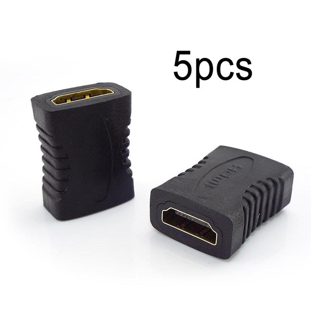 5pcs Female To Female Joiner HDMI compatible Extender Connector Coupler Adapter Extender For Laptop TV Television 1080P 4K*2K 3D
