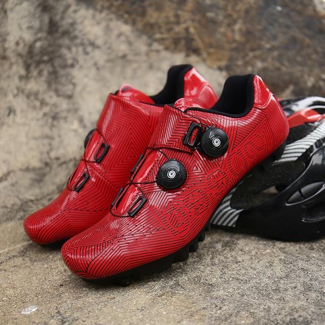 Homem ciclismo tênis mtb sapatos mulher ciclismo respirável auto-bloqueio sapatos de bicicleta de estrada tênis de corrida atlético 6
