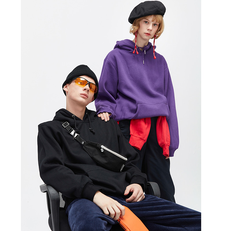 Vintage Colors Men Hoodie Sweatshirt Plain Winter Fleece Pullover Hoodies Harajuku Hip Hop Streetwear Autumn 2018 Urban Clothing