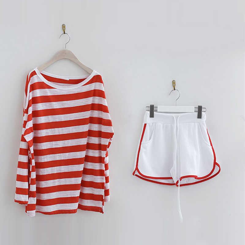 Genayooa Koreanische Stil 2 Stück Set Frauen Casual Lose Anzüge Zwei Stück Set Top Und Hosen 2 Stück Sets Frauen outfits Sommer