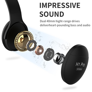 Image 3 - H1 Pro Wireless Gaming Headset HD HIFI Stereo Noise Canceling Hands free Bluetooth V5.0 Headphone with TF Card Slot Mic Earphone