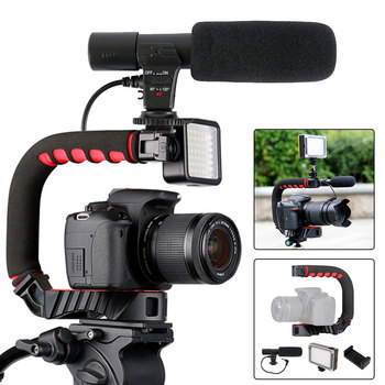 Handheld Video Stabilizer Camera Stabilizer for Canon Nikon Sony Camera DSLR DV Camera Video Stabilizer zhiyun crane 2 dslr gimbal stabilizer 3 axis brushless handheld video camera stabilizer kit for mirrorless camera load 3200g