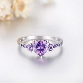 Purple Zircon Crystal Ring