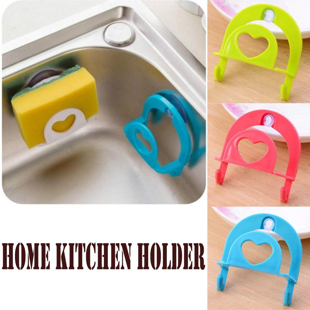 Kitchen Bathroom Drying Rack Suction Sponges Holder Rack
