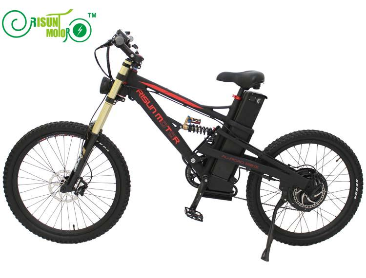 Electric mountain bike frame / all terrain / soft tail / shock absorber electric bicycle frame - 4