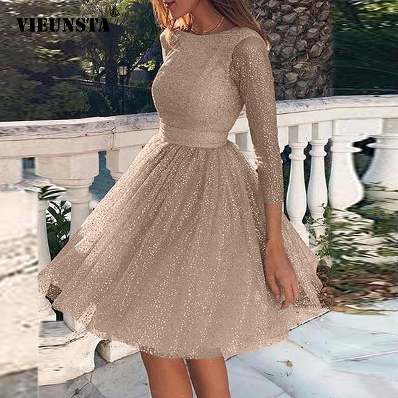 2020 Spring Hollow Out Backless Lace Party Dress Women Sexy O-neck A-Line Princess Dress Summer High Waist Ladies Mini Dress 3XL