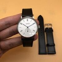 Reloj mecánico para hombre, de acero inoxidable, zafiro, resistente al agua, ultradelgado, automático, Bauhaus