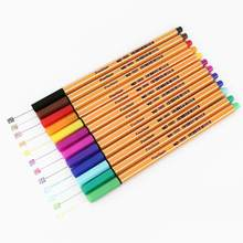 12 kolorów/zestaw DIY metaliczny zestaw markerów pędzelek do zdobień Graffiti Art markery do rysowania biuro szkolne Marker pisanie narzędzia