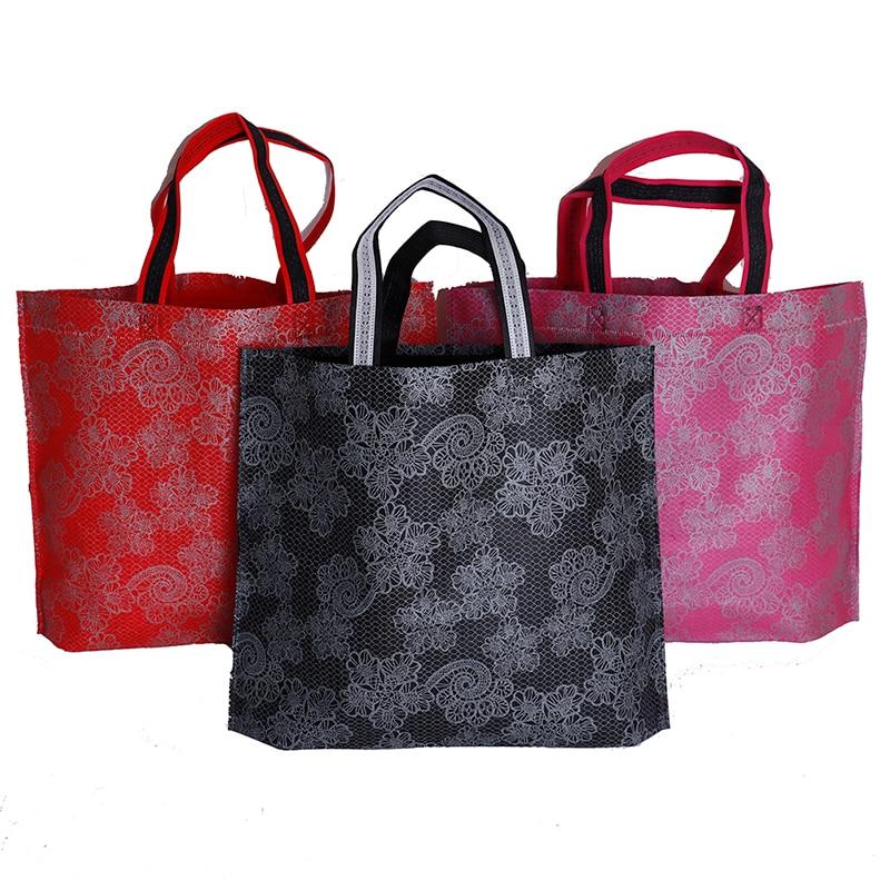 New Women Lady Foldable Shopping Bag Waterproof Thick Handbag Casual Portable Large Capacity Zip Nylon Tote Free Shipping