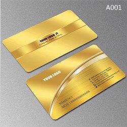 Carte de visite haut de gamme personnalisée 0.38mm brossé métal argent PVC carte de visite personnalisée 200 pièces/ensemble