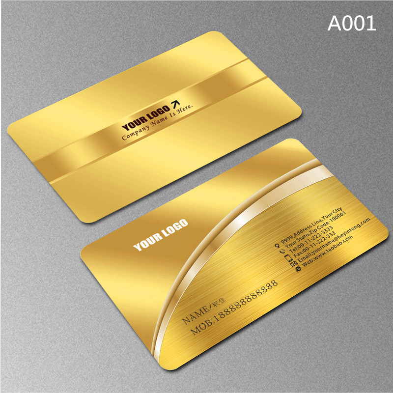 High-end Business Card Customized 0.38 Mm Brushed Metal Silver PVC Business Card Customized 200pcs / Set