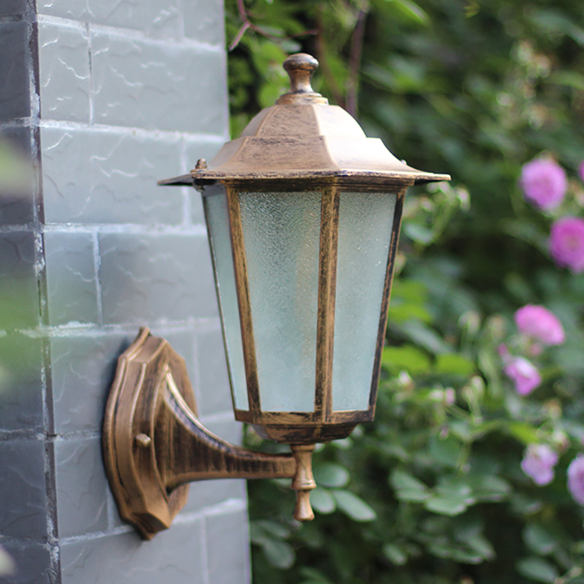 Outdoor Wall Light Fixtures Waterproof Wall Sconce Porch Lights Wall Mount With Glass Shade For Balcony Courtyard Restaurant