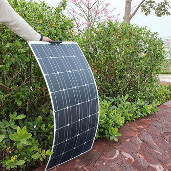 Panel solar Flexible de alta calidad, 400W, 200W, 300W, 12V, 24V, kit...